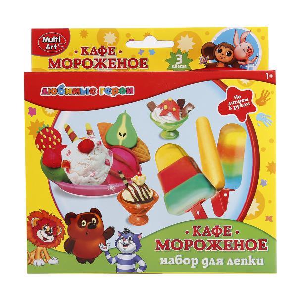 Набор для творчества -Тесто для лепки - Созмультфильм - Кафе мороженое - 3 цветаНаборы для лепки<br>Набор для творчества -Тесто для лепки - Созмультфильм - Кафе мороженое - 3 цвета<br>