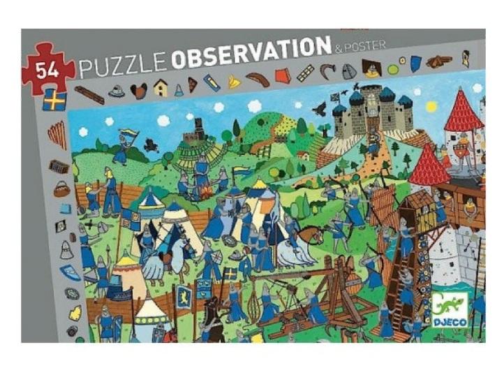 Купить Пазл и игра на наблюдательность - Рыцари, 54 детали, Djeco