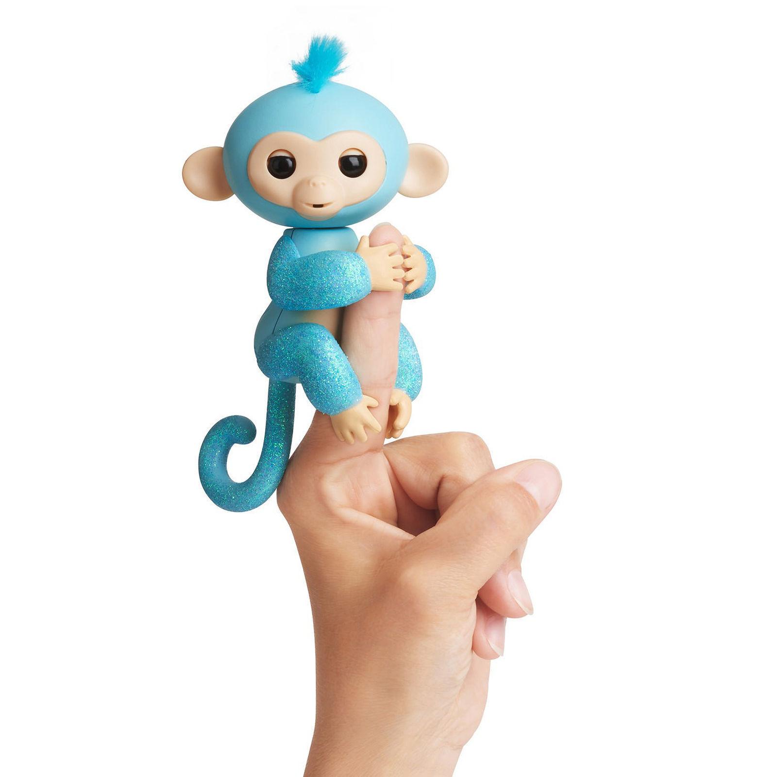 Интерактивная обезьянка Амелия, изумрудная, 12 смИнтерактивные обезьянки Fingerlings<br>Интерактивная обезьянка Амелия, изумрудная, 12 см<br>