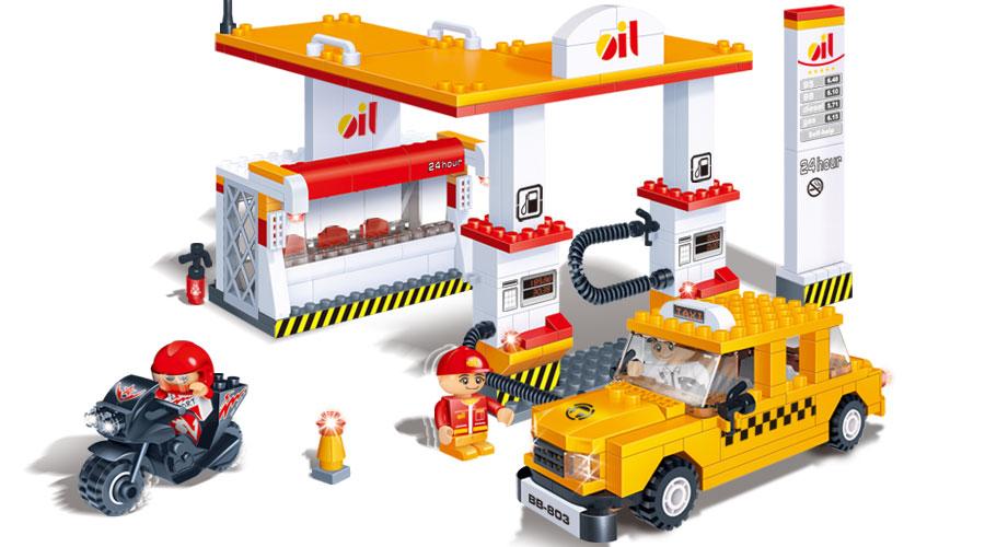 Конструктор – Автозаправочная станция - Конструкторы BANBAO, артикул: 98345