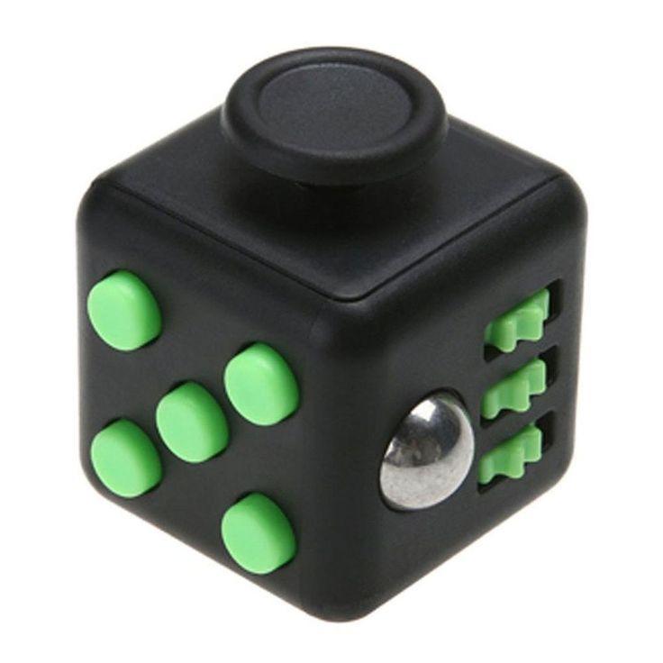 Игрушка-антистресс - FidgetCube Light, черно-зеленыйАнтистресс кубики Fidget Cube<br>Игрушка-антистресс - FidgetCube Light, черно-зеленый<br>