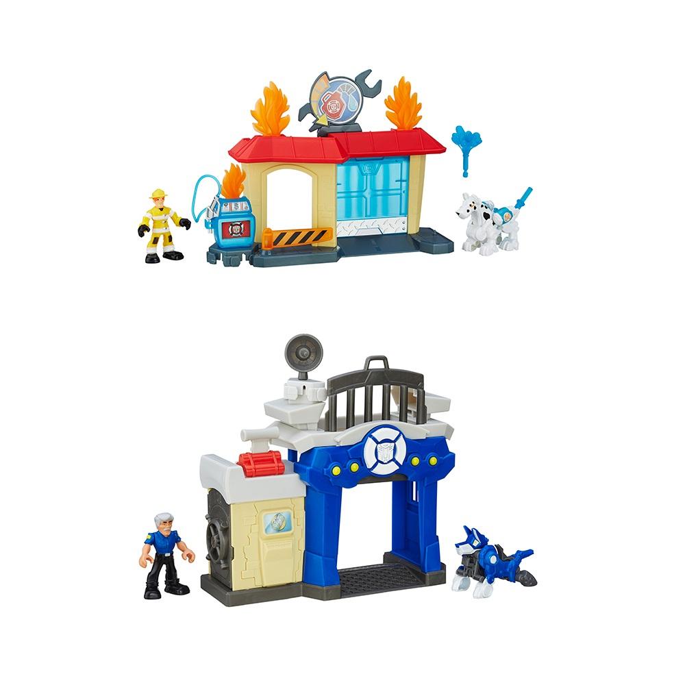 Игровой набор - Playskool Heroes - Трансформеры-спасателиИгрушки трансформеры<br>Игровой набор - Playskool Heroes - Трансформеры-спасатели<br>