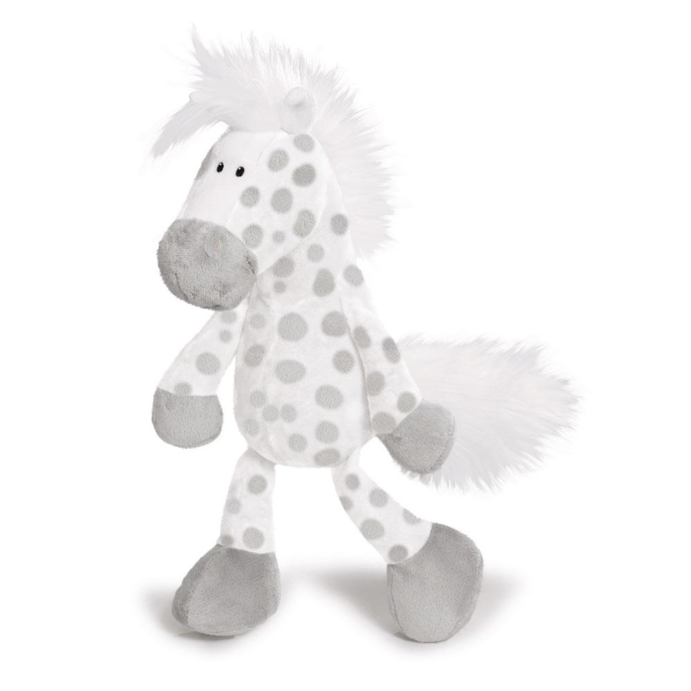 Лошадь серо-бежевая, сидячая, 35 см - Животные, артикул: 99655