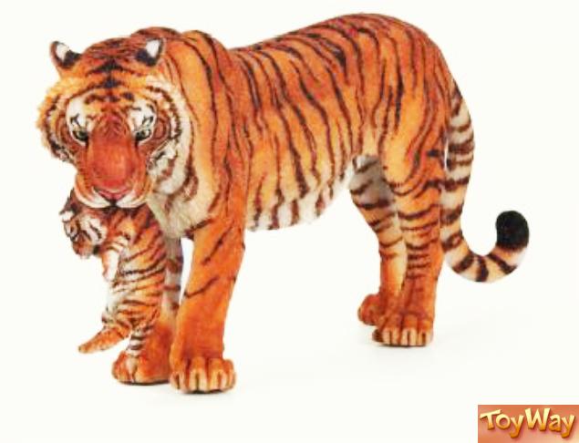 Фигурка тигрицы с детёнышем - Фигурки животных, артикул: 21377