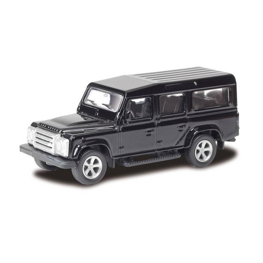 Машина металлическая RMZ City - Land Rover Defender, 1:64, цвет черный / белыйLand Rover<br>Машина металлическая RMZ City - Land Rover Defender, 1:64, цвет черный / белый<br>