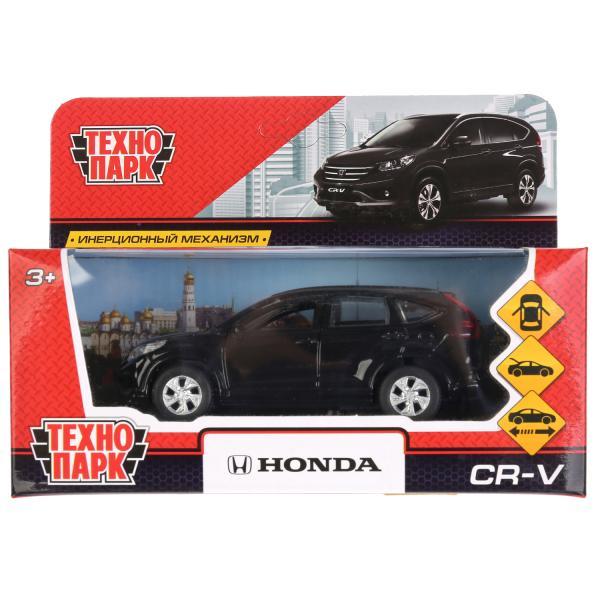 Купить Машина металлическая Honda CR-V, черная, 12 см, открываются двери, инерционная, Технопарк