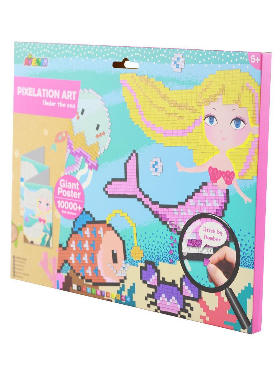 Картина из пиксельной мозаики - Подводный мир по цене 656