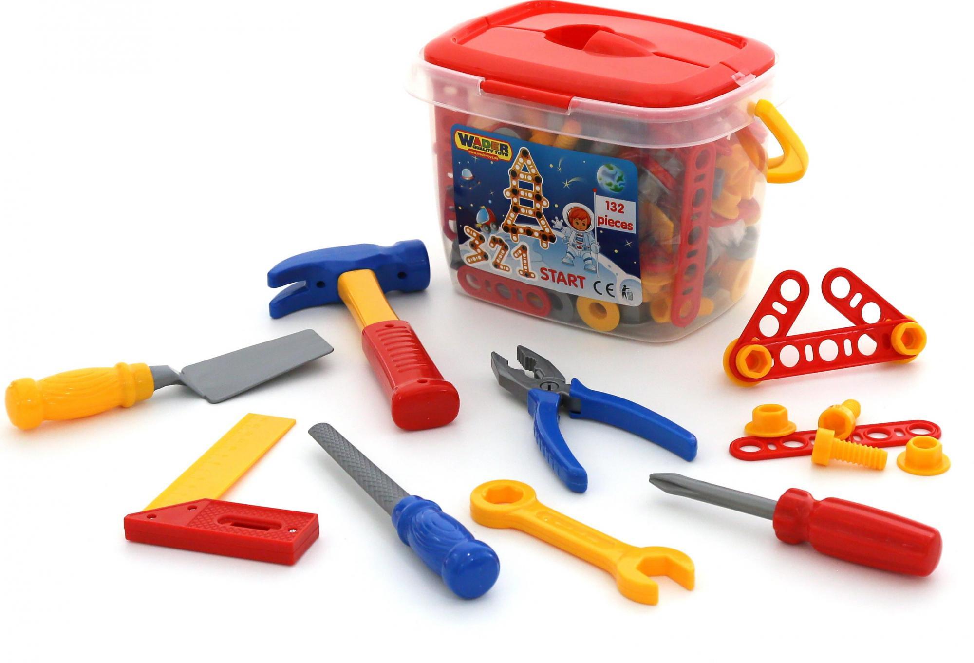 Набор инструментов №3, 132 элемента в ведёркеДетские мастерские, инструменты<br>Набор инструментов №3, 132 элемента в ведёрке<br>