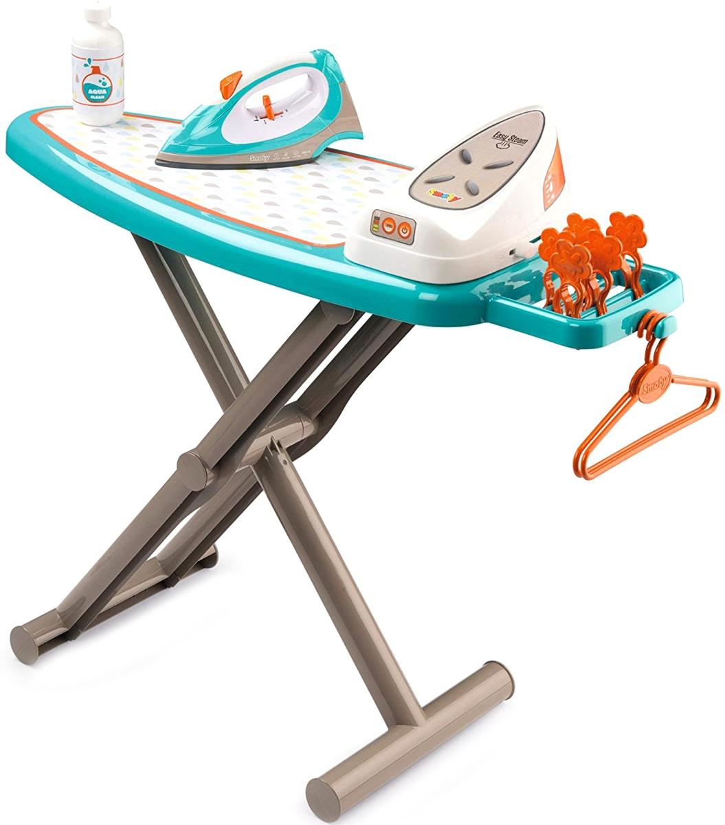 Купить Игровой набор - Гладильная доска и утюг с паровой станцией, звук, Smoby