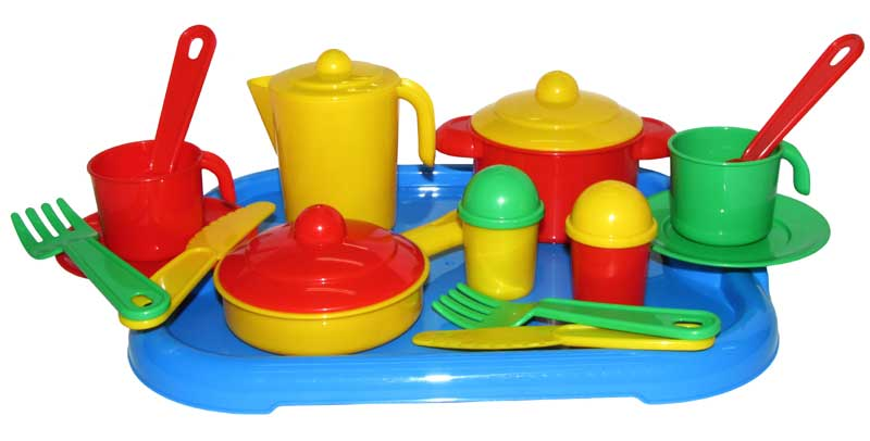 Игровой набор посуды на 2 персоны, НастенькаАксессуары и техника для детской кухни<br>Игровой набор посуды на 2 персоны, Настенька<br>