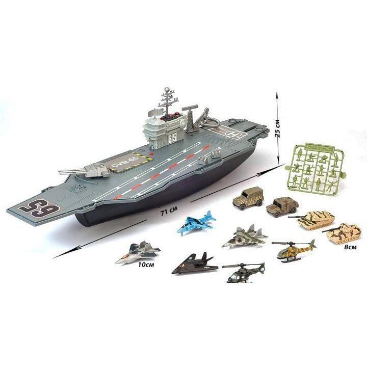Набор Нано-Армия - Авианосец с наполнением, свет и звукРоботы, Воины<br>Набор Нано-Армия - Авианосец с наполнением, свет и звук<br>