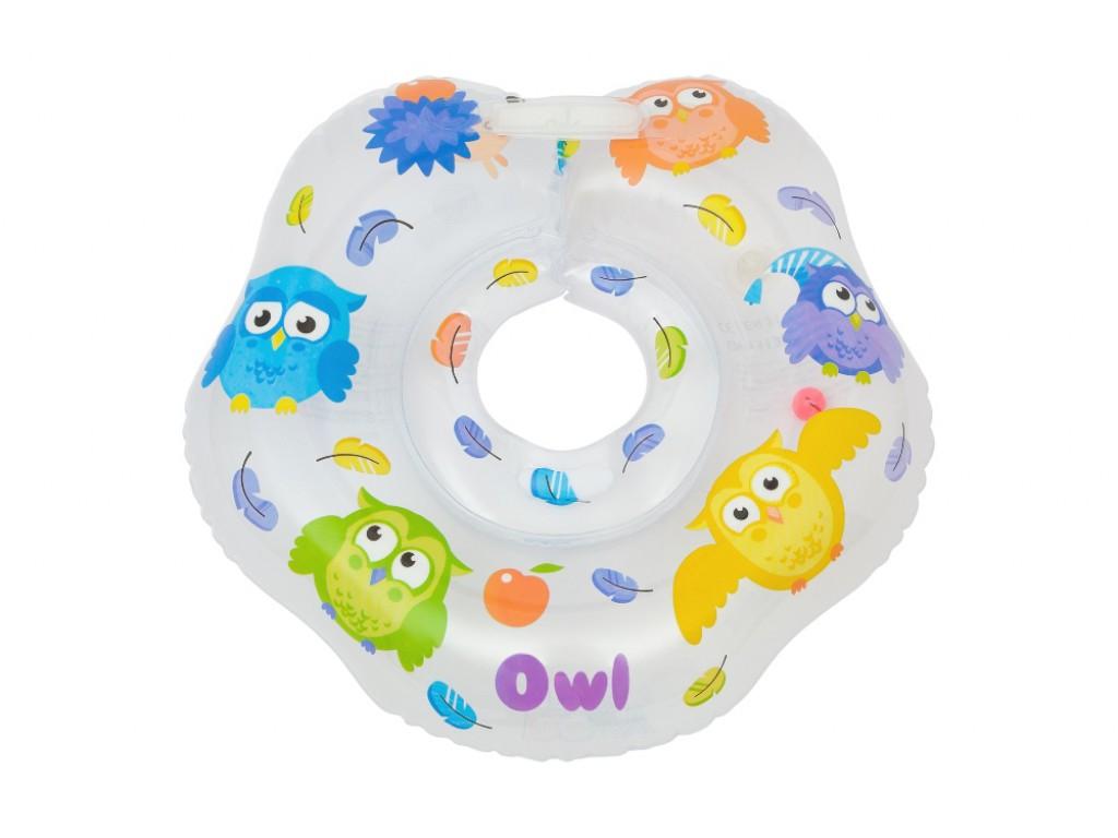 Круг на шею для купания малышей СовушкиКупание ребенка<br>Круг на шею для купания малышей Совушки<br>