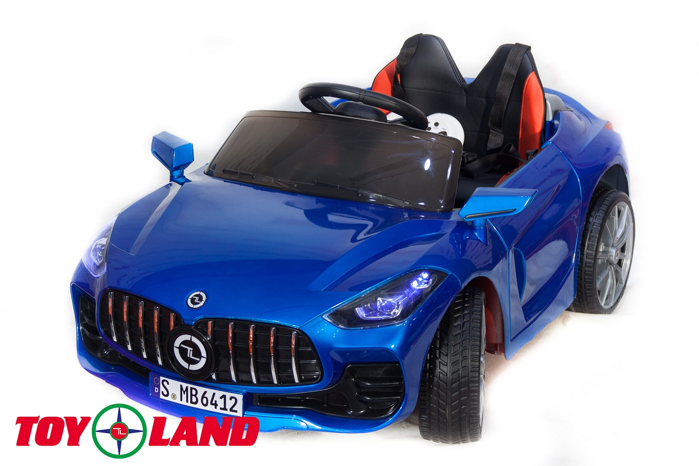 Электромобиль Mercedes Benz sport YBG6412, синий