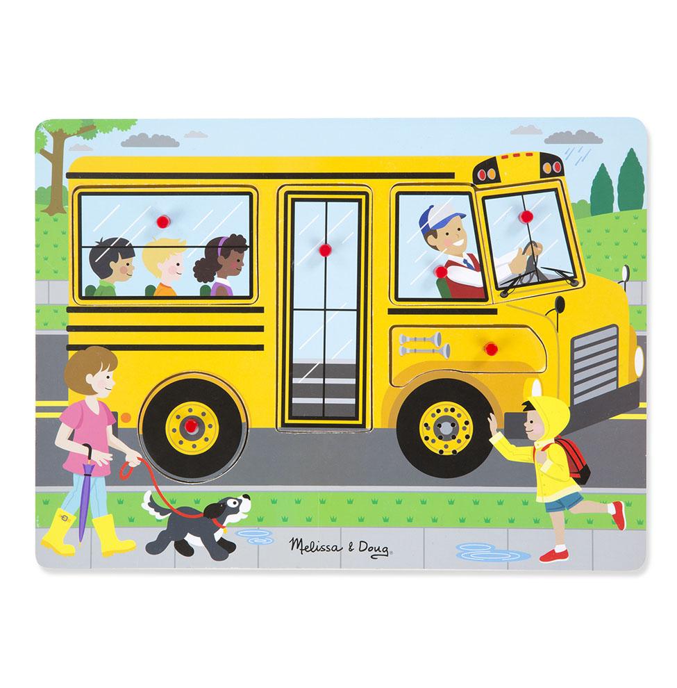 Пазл со звуком – Автобус, 6 деталейПазлы для малышей<br>Пазл со звуком – Автобус, 6 деталей<br>
