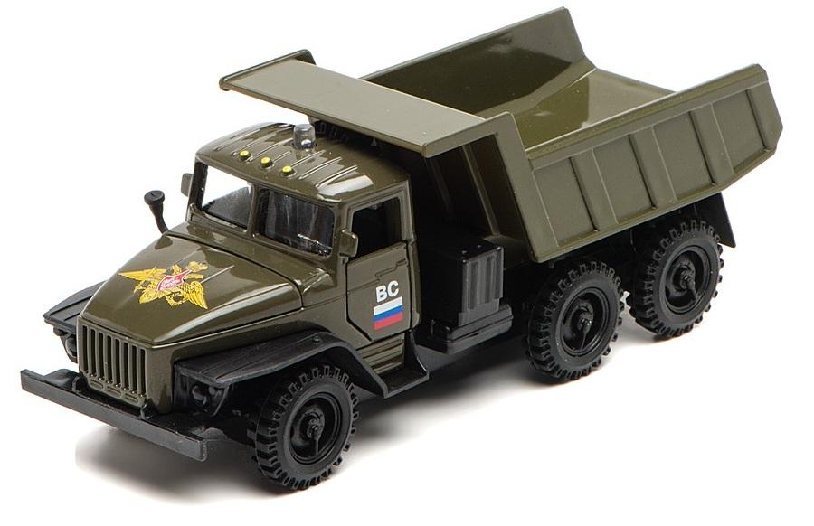 Урал самосвал военный со светом и звукомВоенная техника<br>Урал самосвал военный со светом и звуком<br>