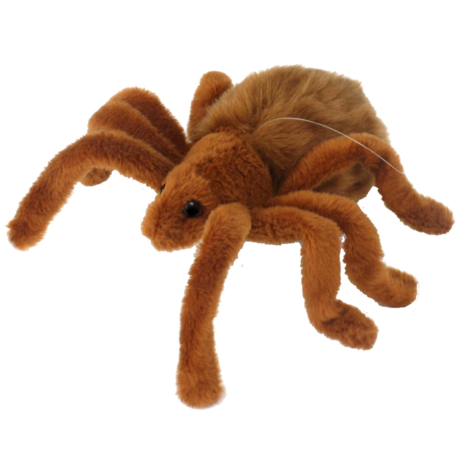 Мягкая игрушка – Тарантул коричневый, 19 см.Насекомые<br>Мягкая игрушка – Тарантул коричневый, 19 см.<br>