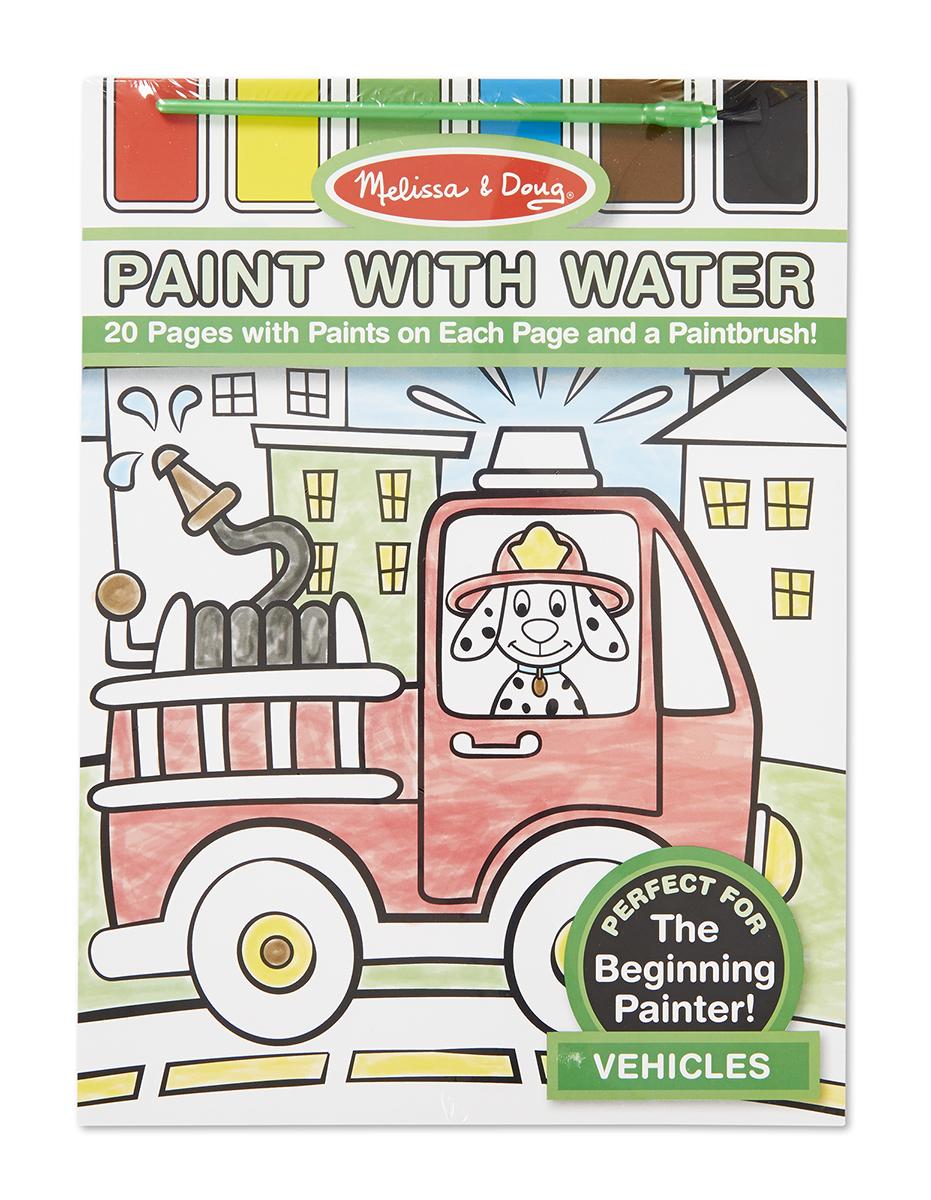 Раскраска - Рисуем водой - Транспорт из серии Творчество ...