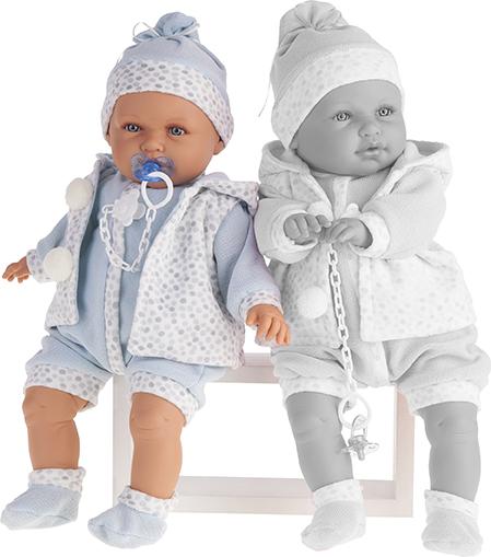 Кукла Бенита в голубом, озвученная, 55 см.Куклы Антонио Хуан (Antonio Juan Munecas)<br>Кукла Бенита в голубом, озвученная, 55 см.<br>