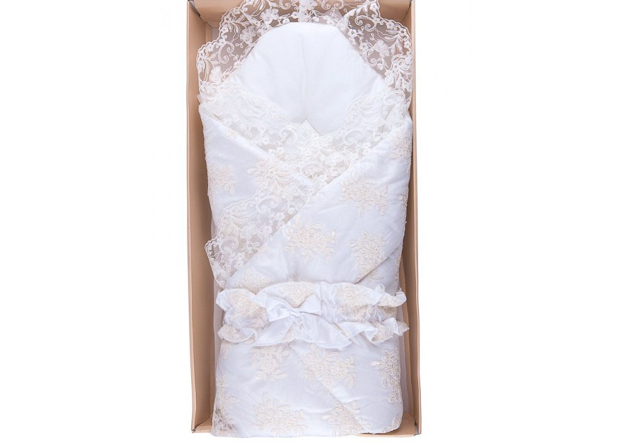 Конверт-одеяло на выписку М-3031, белый - Конверты, комплекты на выписку, артикул: 171275
