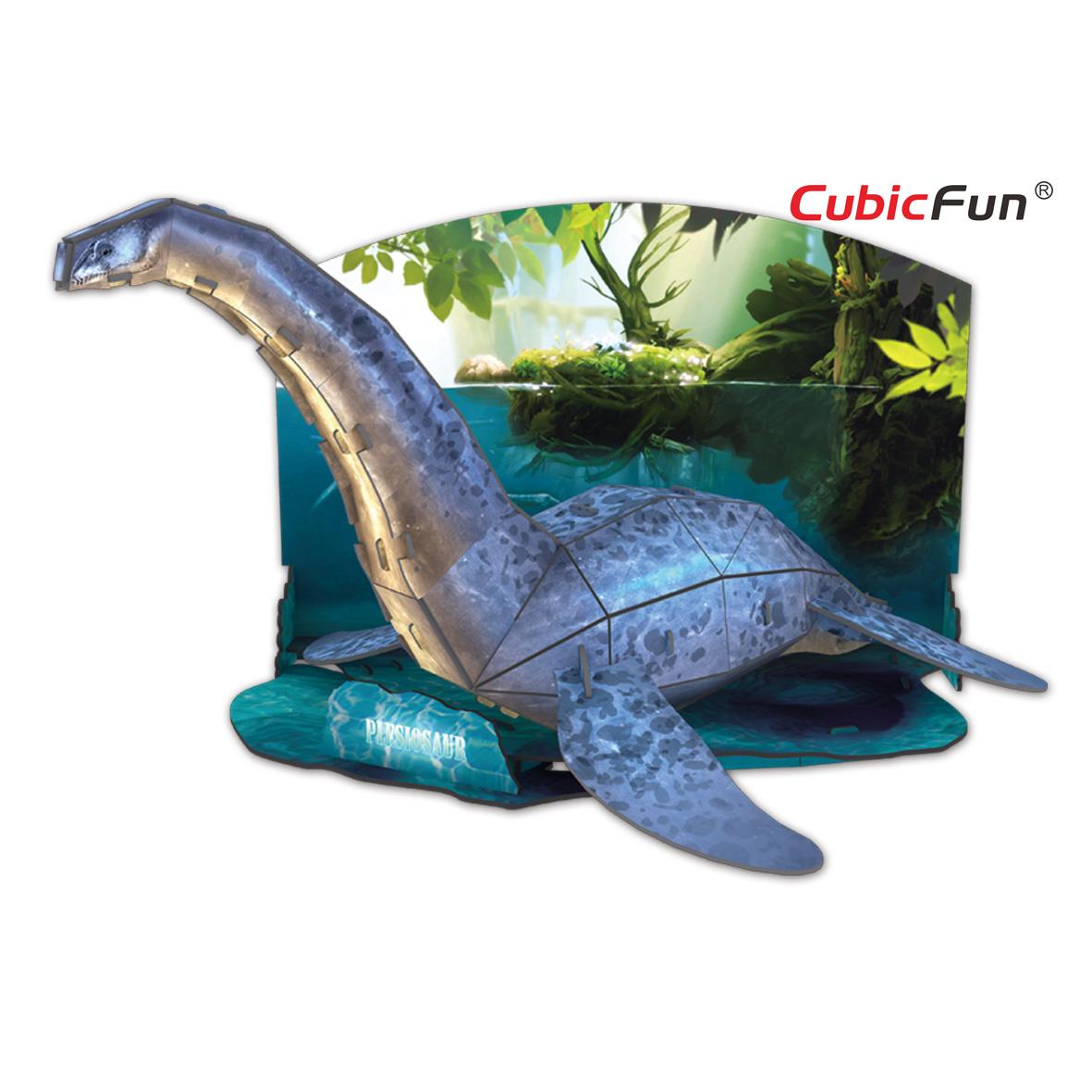 Купить Объемный 3D-пазл из серии Эра Динозавров – Плезиозавр, Cubic Fun