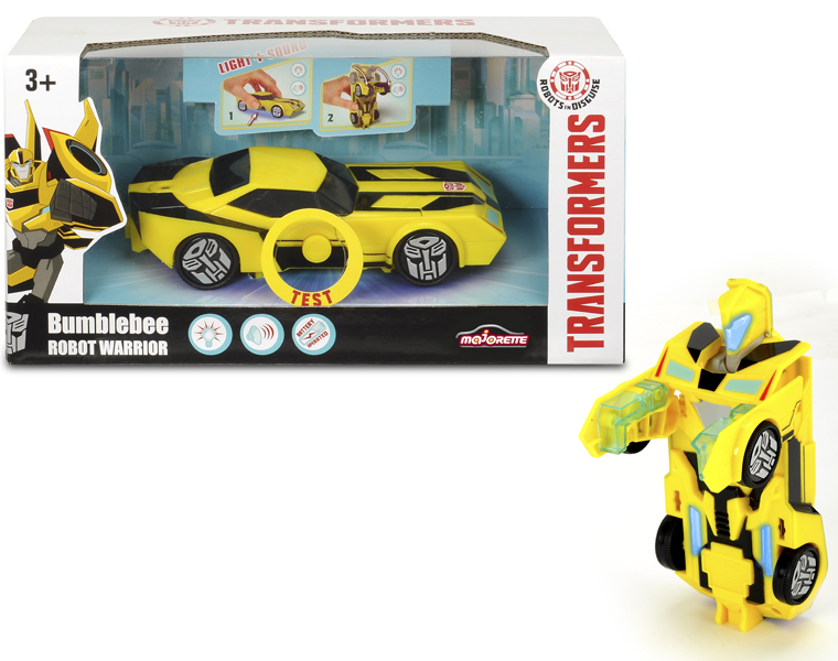 Машинка-трансформер из серии Трансформеры - Bumblebee со светом и звуком, 15 см.Игрушки трансформеры<br>Машинка-трансформер из серии Трансформеры - Bumblebee со светом и звуком, 15 см.<br>