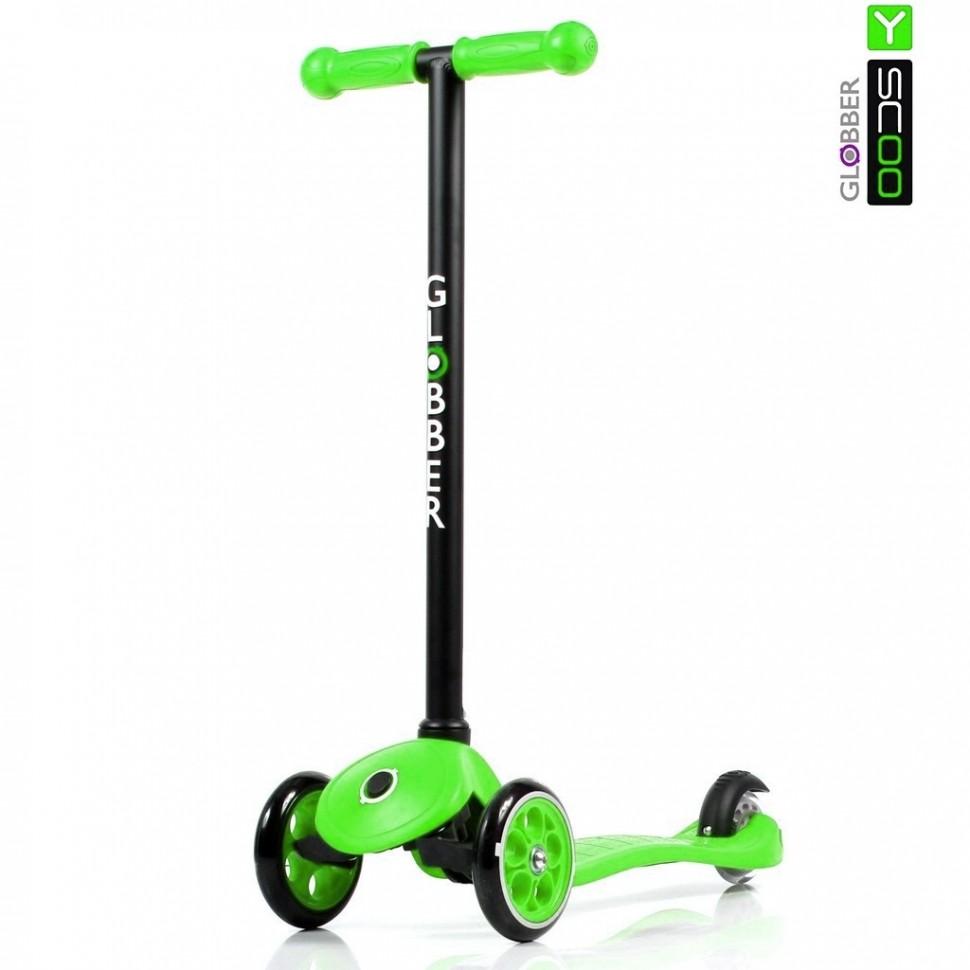Самокат Globber My free FIXED с блокировкой колес, green  - купить со скидкой