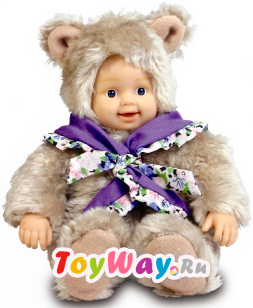 Кукла из серии Детки-Мишки Престиж, с шарфом, 24 см.Куклы детки ANNE GEDDES<br>Кукла из серии Детки-Мишки Престиж, с шарфом, 24 см.<br>