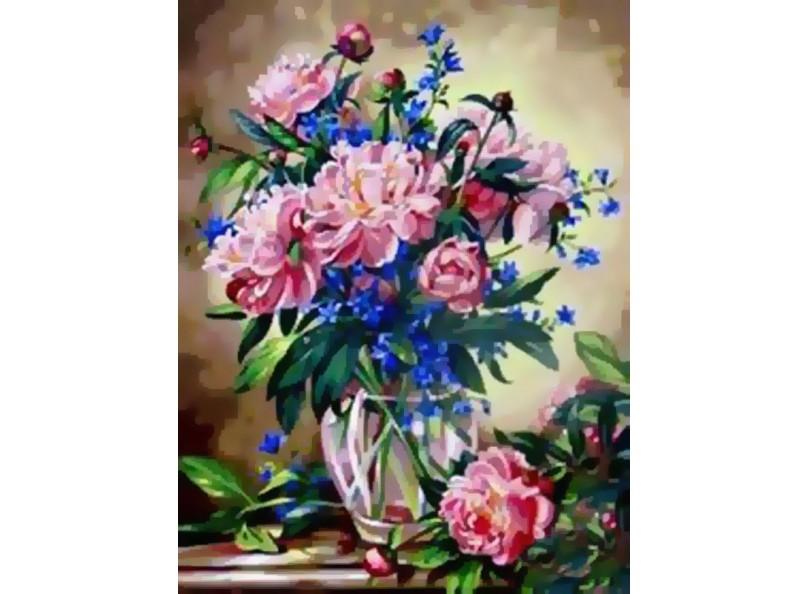 Раскраски по номерам - Букет лесных цветов, 40 х 50 см.Раскраски по номерам Schipper<br>Раскраски по номерам - Букет лесных цветов, 40 х 50 см.<br>