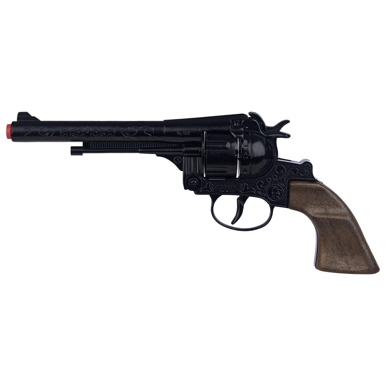Ковбойский револьвер на 12 пистонов, черный фото