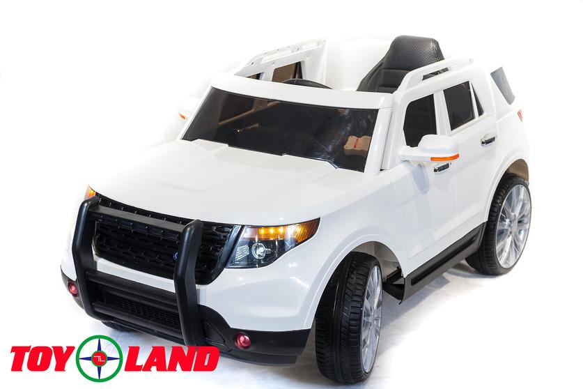 Электромобиль Ford Explorer, белого цветаЭлектромобили, детские машины на аккумуляторе<br>Электромобиль Ford Explorer, белого цвета<br>