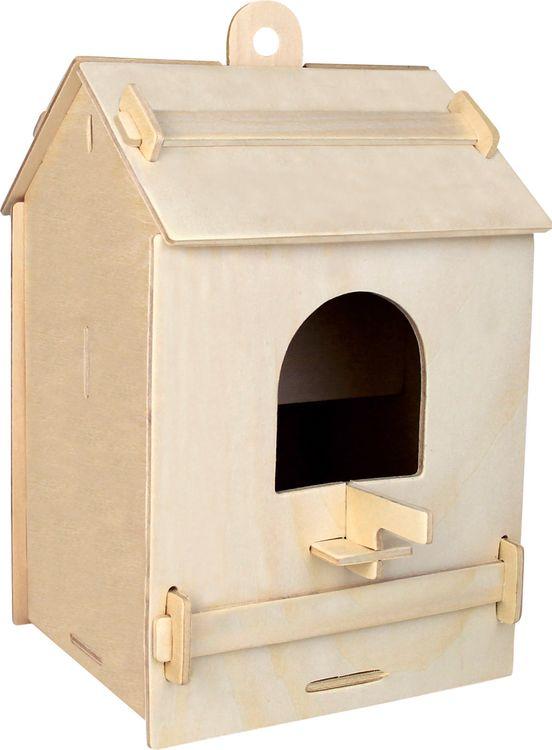 Модель Скворечник 2, деревянная, сборная, 4 пластиныДомики, кормушки для птиц<br>Модель Скворечник 2, деревянная, сборная, 4 пластины<br>