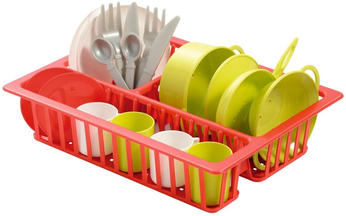 Набор детской посуды в сушилке