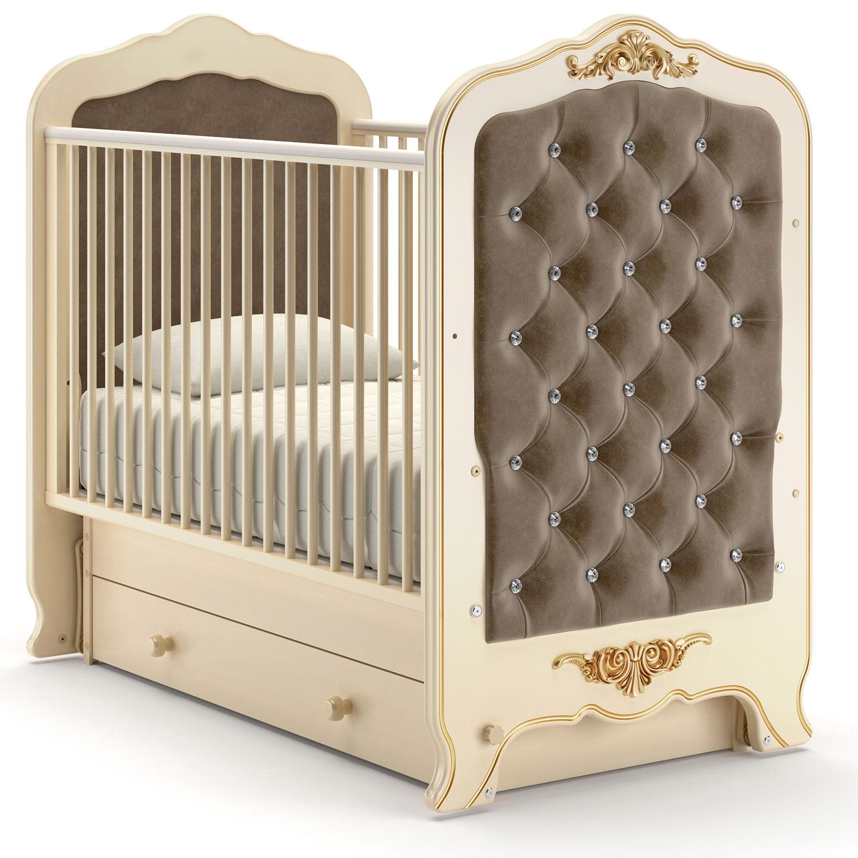 Купить Детская кровать Nuovita Fulgore swing поперечный, цвет - Avorio/Слоновая кость