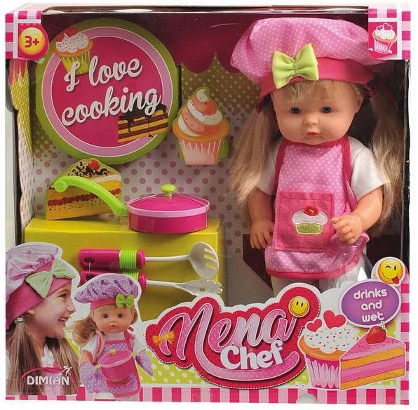 Кукла Baby Nena шеф-повар, 36 смПупсы<br>Кукла Baby Nena шеф-повар, 36 см<br>