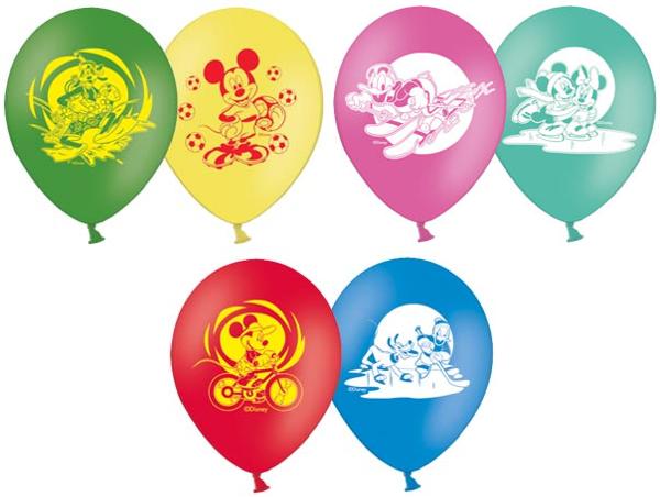 Набор шариков Весёлая Затея Disney, Микки МаусВоздушные шары<br>Яркий набор воздушных шариков с красивыми рисунками Disney «Микки Маус».<br>Шарики прочные, легко надуваются и быстро не лопаются. Отличное укра...<br>