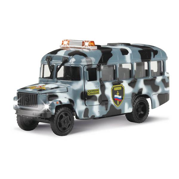 Машина металлическая инерционная - КАВЗ – ОМОН со светом и звукомПолицейские машины<br>Машина металлическая инерционная - КАВЗ – ОМОН со светом и звуком<br>