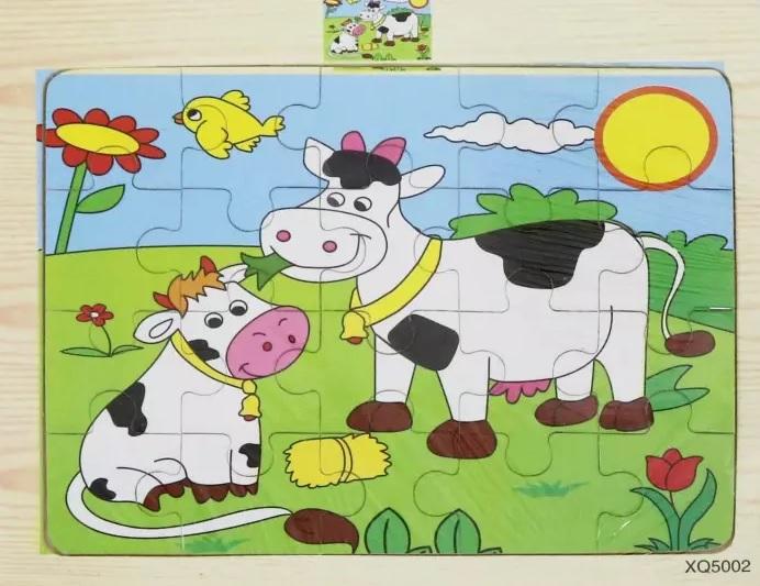 Пазл деревянный – Коровы