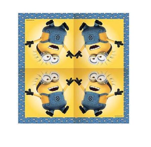Купить Набор салфеток 20 шт. из серии Minions, размер 33 х 33 см., Росмэн