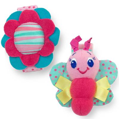 Игрушки-погремушки на ручку «Стильная пара браслетиков» - Детские погремушки и подвесные игрушки на кроватку, артикул: 97398