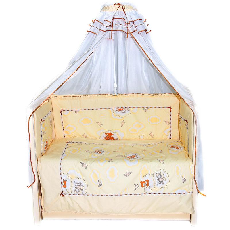 Бампер в кроватку – Сладкий сон, желтыйДетское постельное белье<br>Бампер в кроватку – Сладкий сон, желтый<br>
