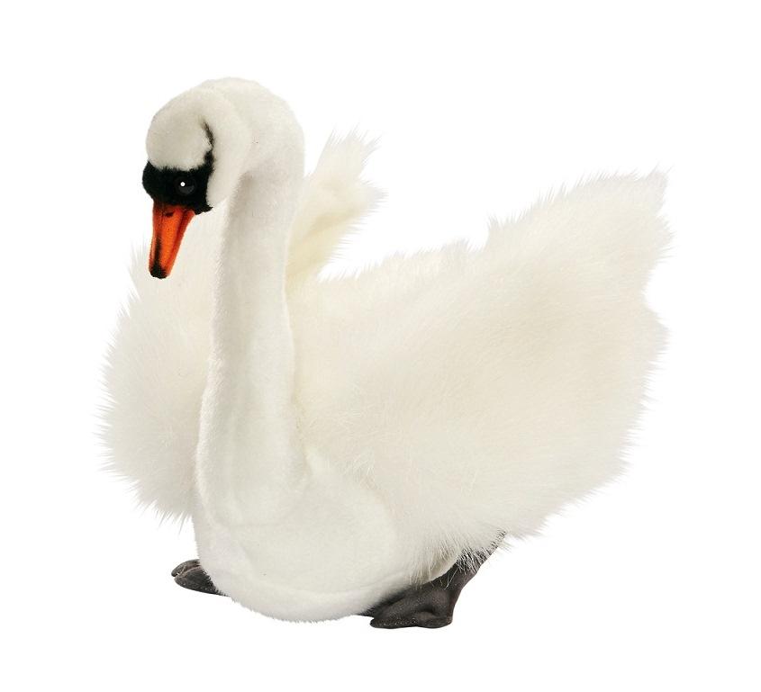 Мягкая игрушка – Лебедь белый, 27 см