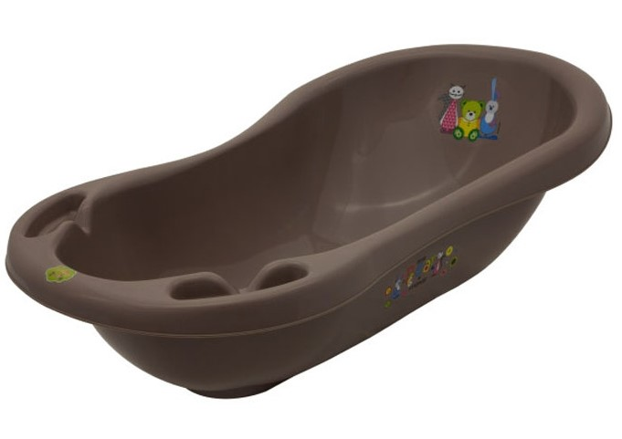 Купить Ванночка детская – Mishka, 84 см. Коричневая, Maltex