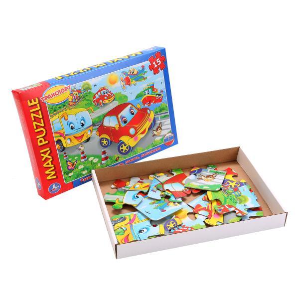 Макси-пазл – Машинки, 15 деталейПазлы для малышей<br>Макси-пазл – Машинки, 15 деталей<br>