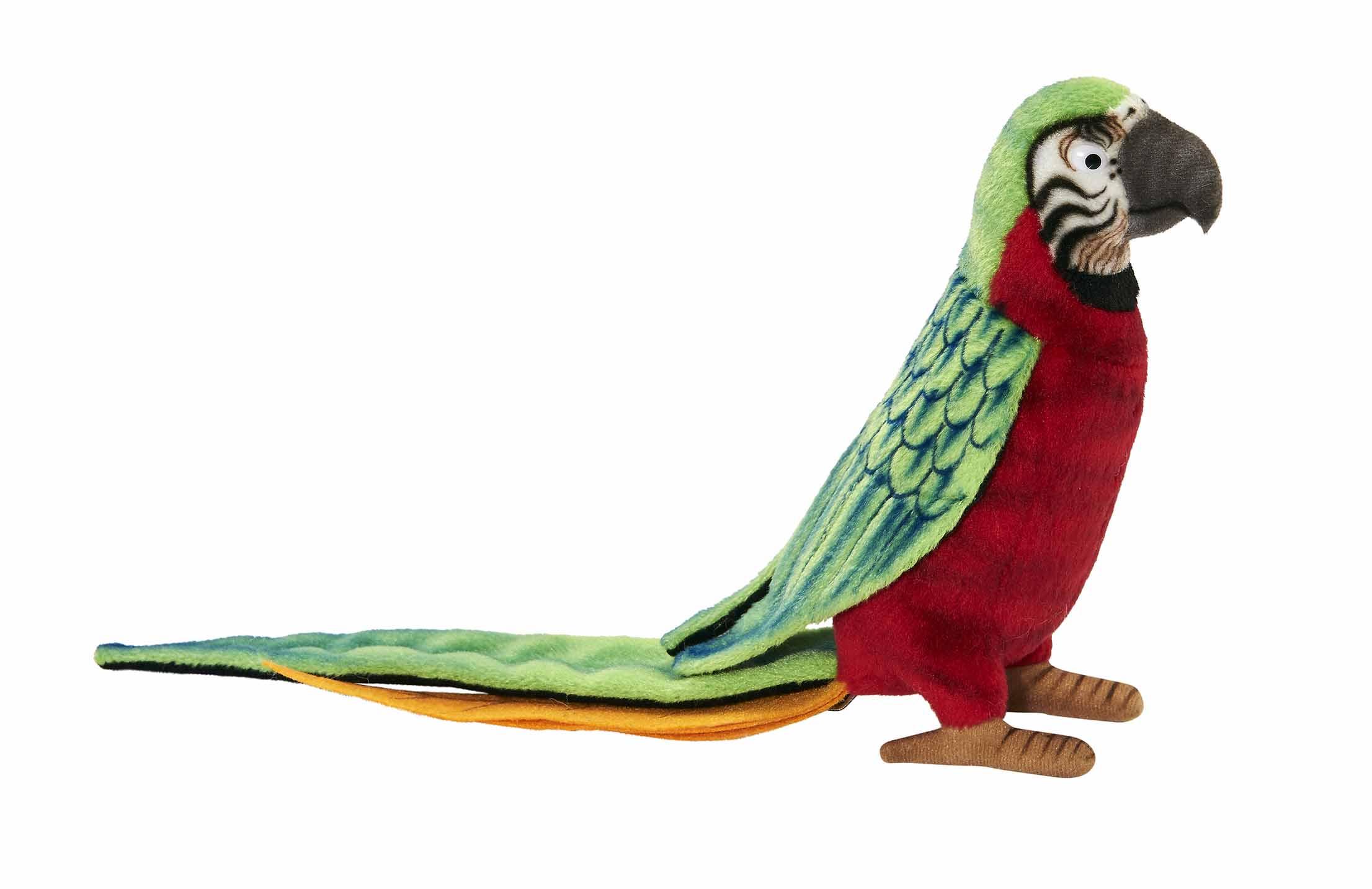 Мягкая игрушка – Красный попугай, 37 см