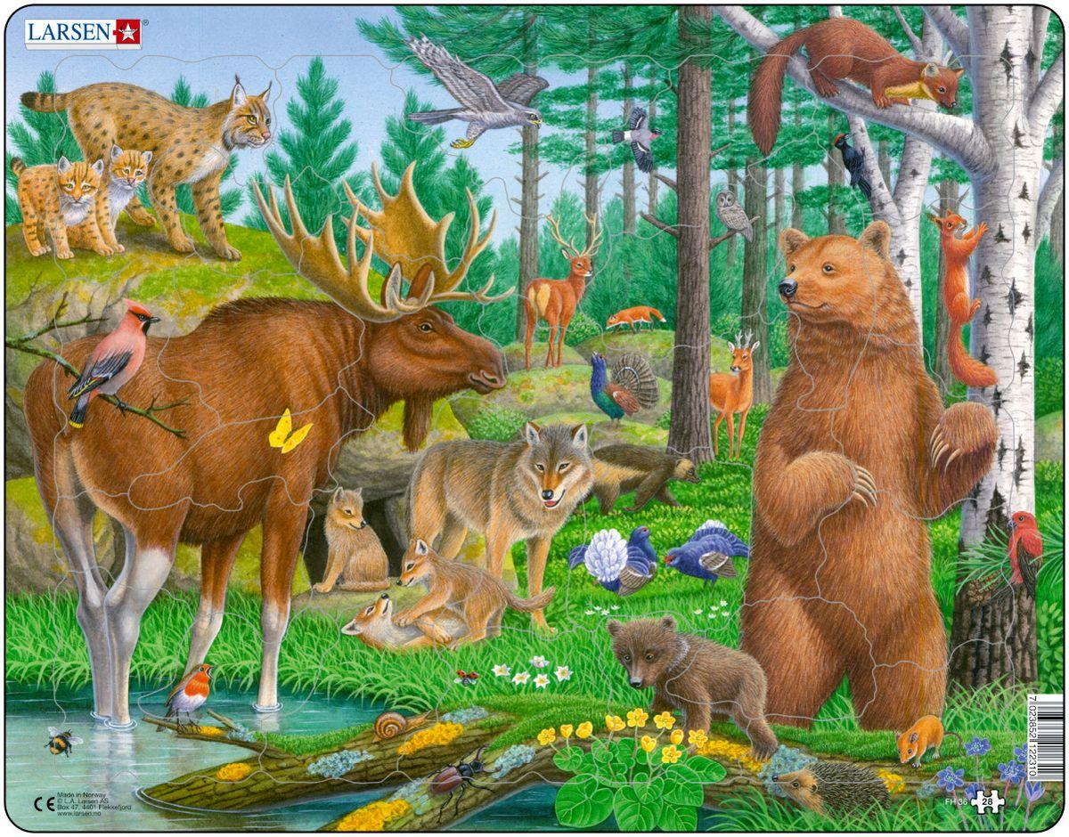 картинка Пазл - Лесные животные, 28 элементов от магазина Bebikam.ru