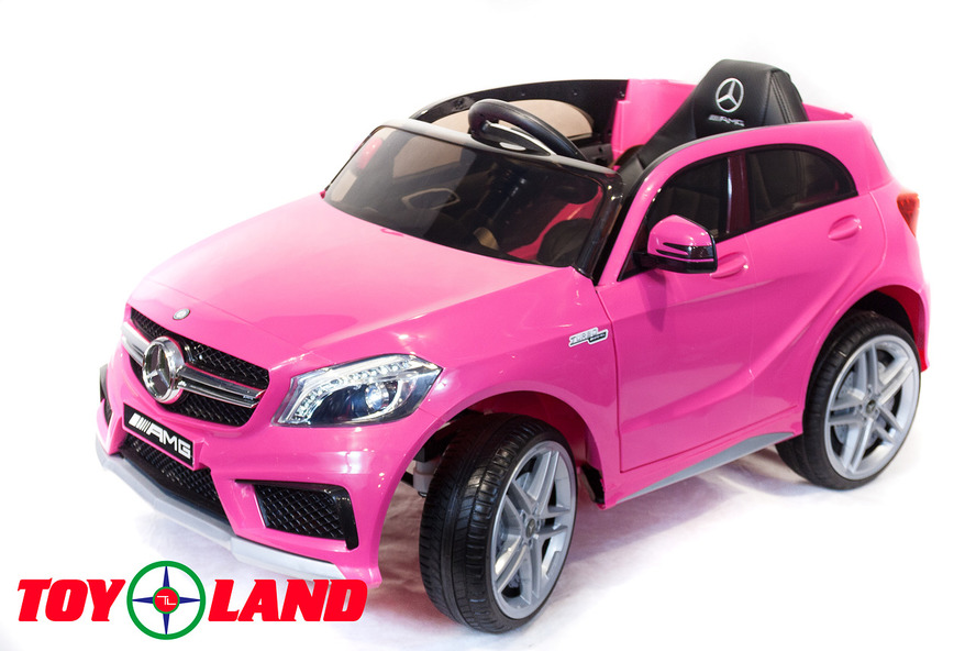 Электромобиль Mercedes-Benz A45, цвет – розовыйЭлектромобили, детские машины на аккумуляторе<br>Электромобиль Mercedes-Benz A45, цвет – розовый<br>