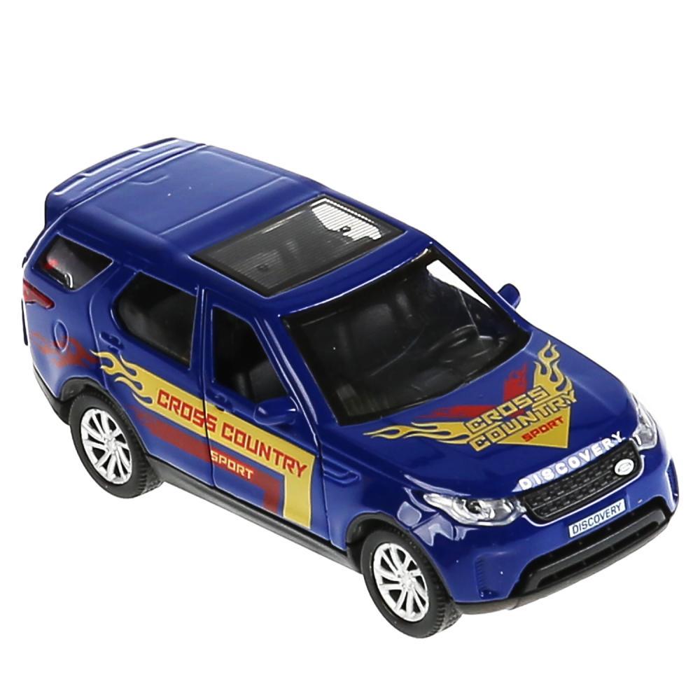 Купить Машина металлическая Land Rover Discovery Спорт 12 см, свет-звук, инерция, синяя, Технопарк