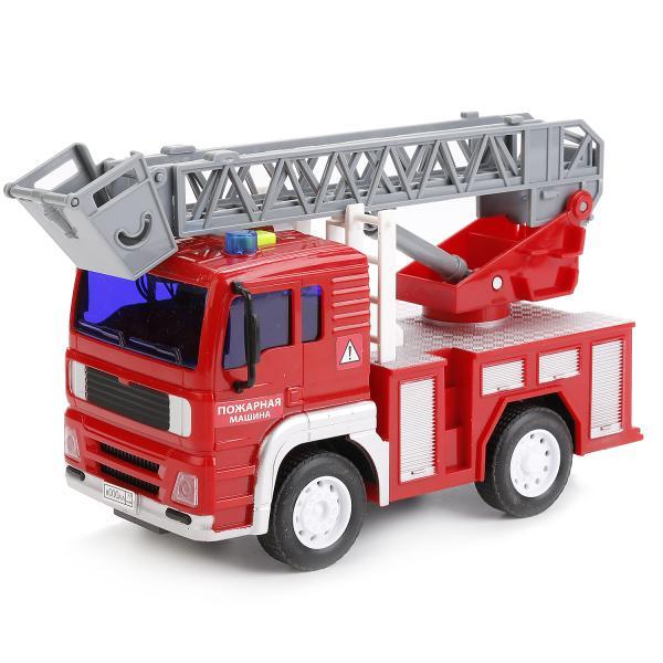 Инерционная машина - Пожарная машина, 1:20, свет и звукПожарная техника, машины<br>Инерционная машина - Пожарная машина, 1:20, свет и звук<br>