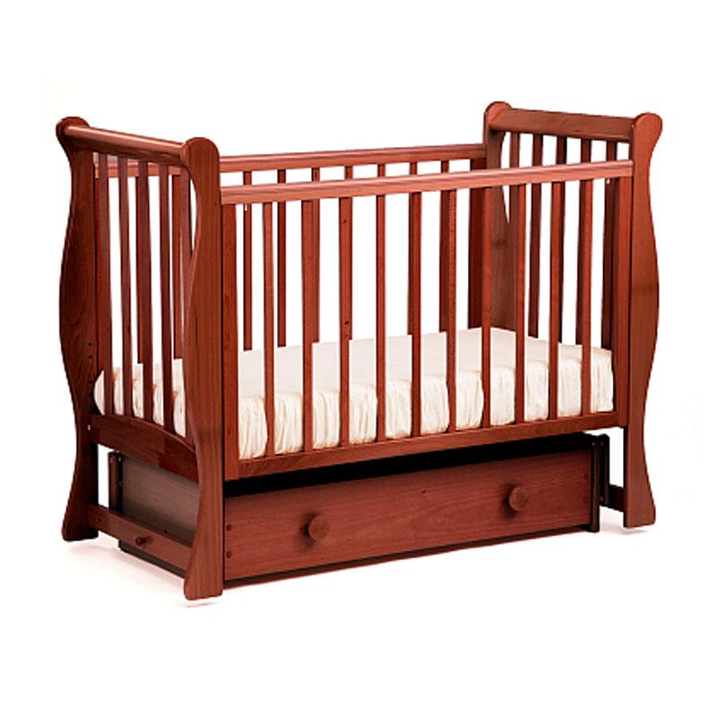 Купить Кровать детская Лель АБ 21.2 Лаванда маятник поперечный, вишня-патина