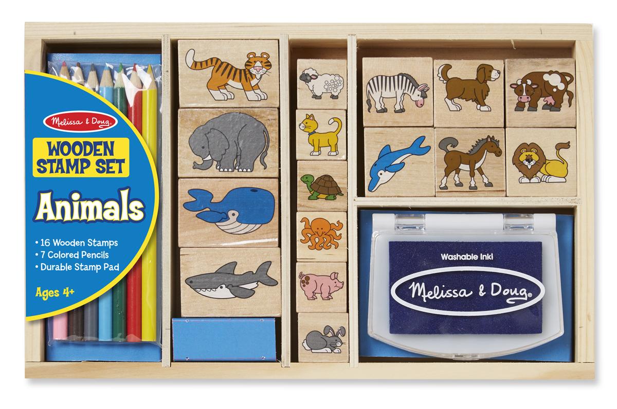 Купить Большой набор печатей - Животные из серии Творчество, Melissa&Doug